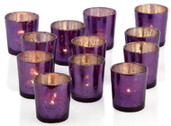 Silver Electroplating Candle Glass Cups Decorative For Restaurants Churches