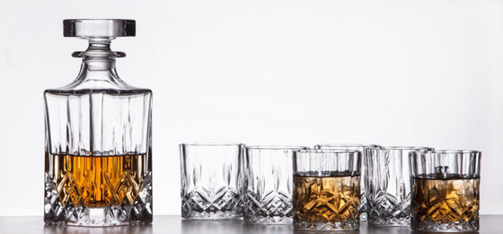 Sauare Shape Glass Whisky Decanter Set / 650ml Personalized Scotch Decanter